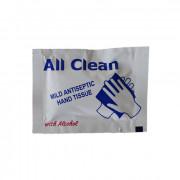 Antibacterieel doekje, bevat alcohol